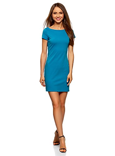 Blu Camicetta Basic Ultra 7501n Viscosa oodji in Donna qBOnZzF