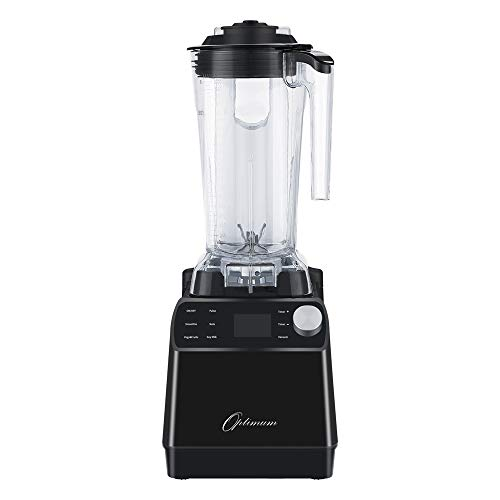 Optimum Vacuum Blender - High-Speed Countertop Kitchen Smoothie Maker, Quiet Blender, Virtually No Foam, Heavy Duty Motor 2238W, Tamper Tool, 10 year Warranty (Black) (Best Blender For Ice Australia)