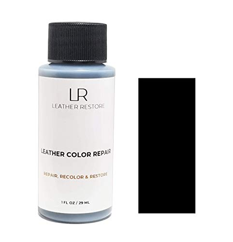 (Leather Restore Leather Color Repair, Black 1 OZ - Repair, Recolor and Restore Couch, Furniture, Auto Interior, Car Seats, Vinyl and Shoes)