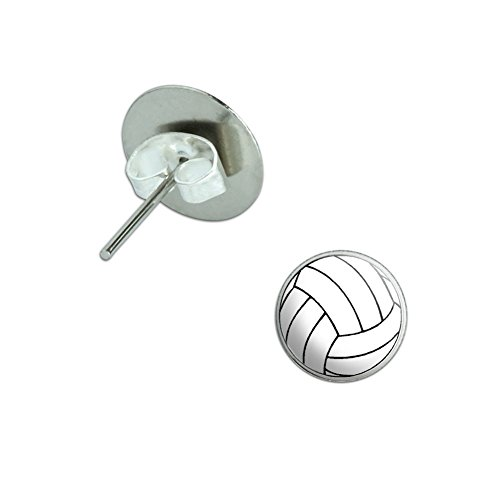 Volleyball Novelty Silver Plated Earrings