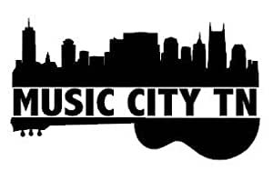 Nashville tn music city guitar and skyline for Music city motor cars
