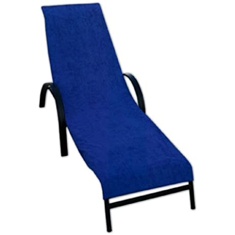 Terry Lounge Chair Cover Royal Blue