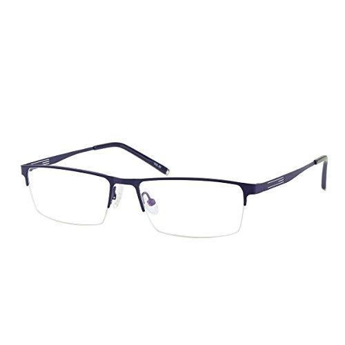 Jcerki Blue Half Frame Business Bifocals Reading Glasses 2.50 Men Women Fashion Light Bifocals Reading Eyeglasses by Jcerki