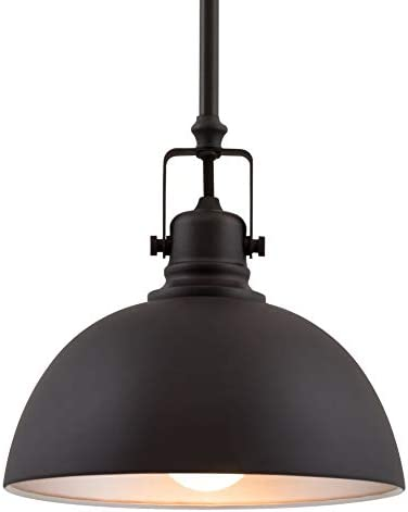 Kira Home Belle 9 Contemporary Industrial 1-Light Pendant Light, Adjustable Length Shade Swivel Joint, Oil-Rubbed Bronze Finish