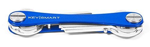 KeySmart - Compact Key Holder and Keychain Organizer (up to 8 Keys, Blue)
