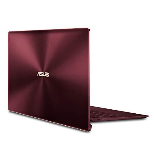 ASUS ZenBook S UX391UA-XB71-R Ultra-thin and light 13.3-inch Full HD Laptop, Intel Core i7-8550U, 8GB RAM, 256GB M.2 SSD, Windows 10 Pro, FP Sensor, Thunderbolt, Burgundy Red