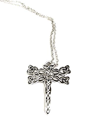 Ivy & Clover Movie Entertainment TV Jewelry Collection (Outlander Inspired Celtic Cross Dragonfly ()