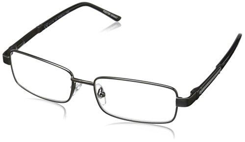 Foster Grant Men's Jagger PolarizedSquareReaders , Gunmetal - Frames Glasses 2016 Mens