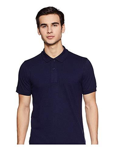 KAMAL LIBAS Solid Men Polo Neck Blue T Shirt