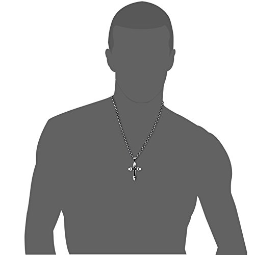 Jstyle Jewelry Stainless Steel Cross Necklace Pendant for Men Byzantine Chain Necklace Boys 5mm 22 Inch