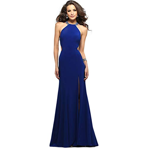 Faviana Womens Prom Full-Length Evening Dress Blue 10