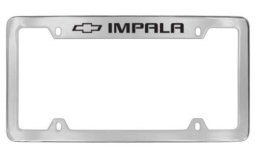 (Chevrolet Impala Chrome Plated Metal Top Engraved License Plate Frame Holder)