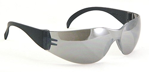 Galeton 11025 Outlaw Lightweight Anti-Scratch Lens Safety Glasses with Extra Wide Temples, Silver - Glasses Outlaw Safety