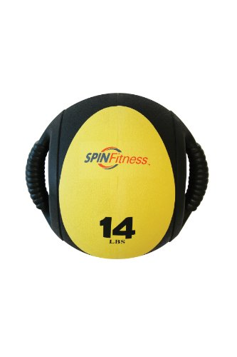 Cheap SPIN Fitness Commercial Grade Dual Grip Med Ball 14 lbs.