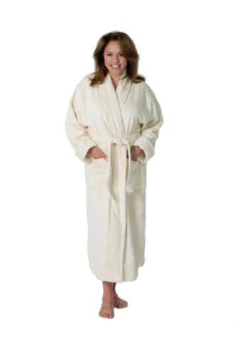 Thirsty Towels Turkish Cotton Shawl Collar ZEN SPA Robe 2XL Natural by ThirstyTM Towels