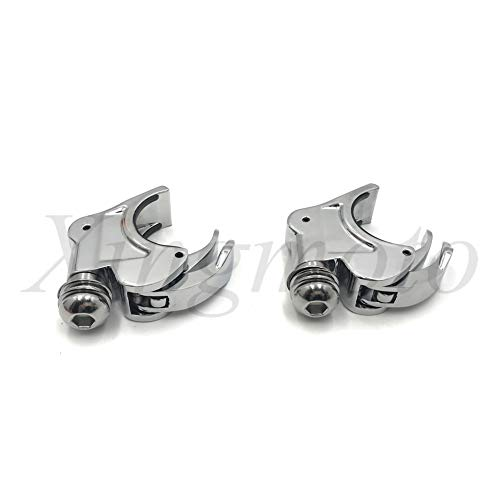 NBX- Replacement of 2X Chrome 39mm Forks Quick Release Windshield Clamps For Compatible with Harley Dyna Sportster