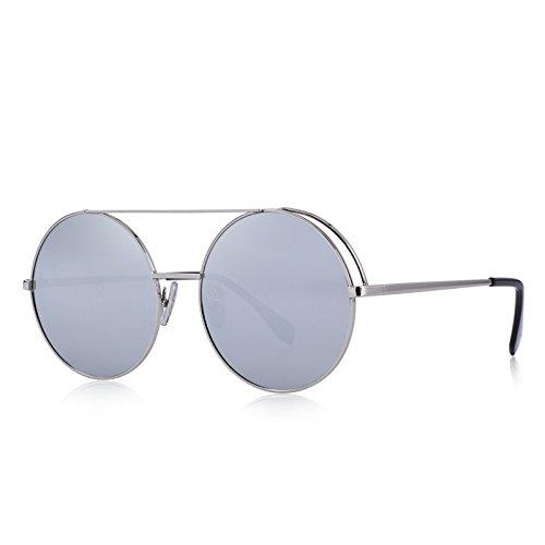 gafas 100 UV Dobles naranja Puentes mujeres con sol C06 Silver TIANLIANG04 C07 ronda protección Classic de PxXvR