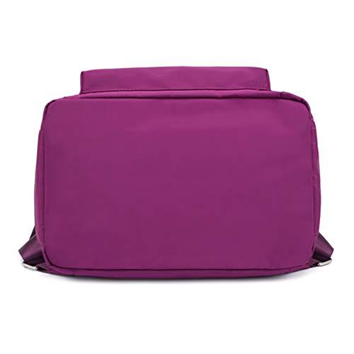 Purple Shoulder Black Nylon Handbag Rucksack Backpack Satchel Women Bag Travel Multifunction Dabixx 0w7qP1qg
