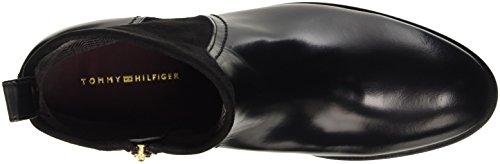 Classiques Black Femme Hilfiger Bottes B1285erry Tommy 990 Noir 21c TwI70