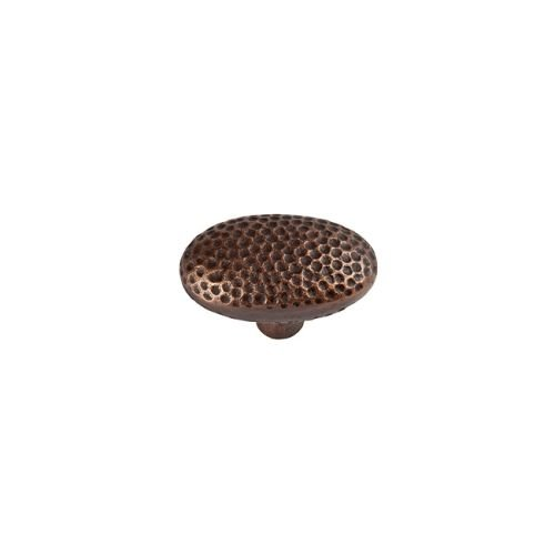The Copper Factory CF106AN Solid Cast Copper Large Oval Knob, Antique Copper by The Copper Factory