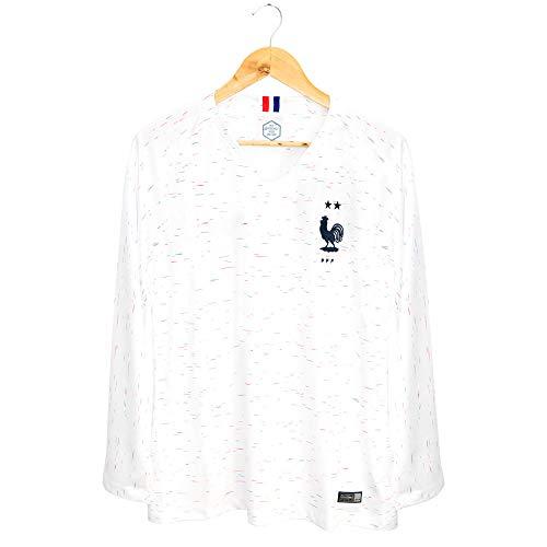Thai Version European Size Long Sleeve 2 Stars France's Championship T-Shirt Soccer Jerseys (Away, - Soccer Jersey Thai