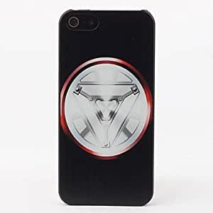 YULIN Silver Shield Protective Hard Back Case for iPhone 5/5S