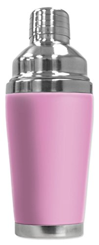 - Mugzie brand 16-Ounce Cocktail Shaker with Insulated Wetsuit Cover - Pink