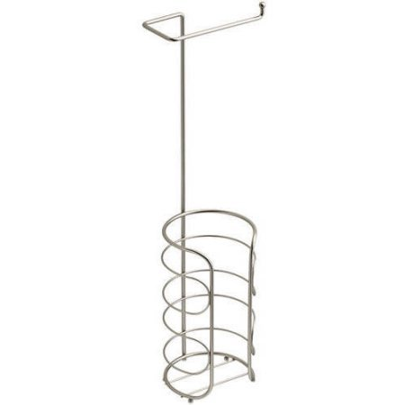 Toilet Paper Holder Chapter Freestanding, Available in (Multiple Colors) (Satin Nickel)