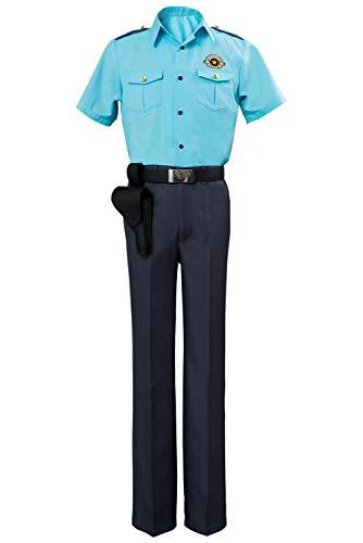 Baycon Anime SARAZANMAI Niiboshi REO Akutsu Mabu Police Costume Halloween Cosplay Costume Blue]()