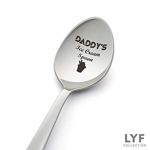 - Daddy's ice cream Spoon | Father's day gift |Spoon Gift for dad | Gift for Ice Cream Lover - Crafted by LYF Collections