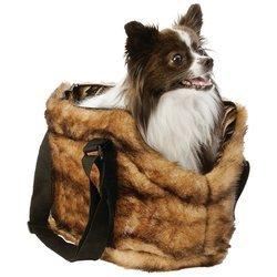MaxamTM Pet Club Faux Mink Pet Carrying Bag
