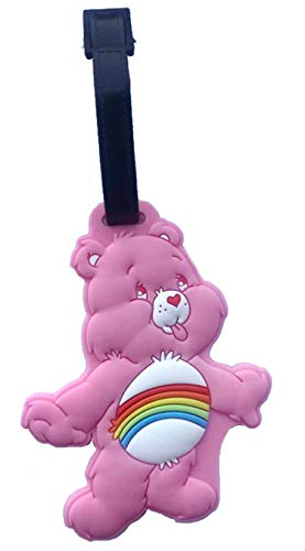 UGDXL Suitcase Protective Covers Travel Accessories Cartoon Luggage Tag Care Bears Rainbow Bear Check Tags ()