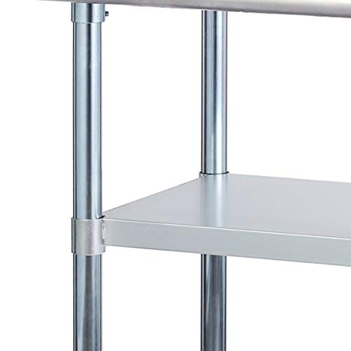 Rockpoint Carmona Tall NSF Stainless-Steel Kitchen Work Table with Adjustable Shelf, 30 x 23 Inch by ROCKPOINT (Image #5)