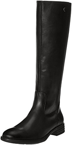 Bussola High Leather Weather Knee Tricia Boots Closed Cold Black Toe Womens XwHqrfx1X