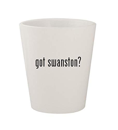 got swanston? - Ceramic White 1.5oz Shot Glass