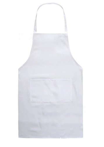 Hosaire Children's Artists Aprons with 1 pocket Sleeveless Art Craft Smock Aprons for Kitchen, Classroom, Community Event, Crafts Art Painting Activity White