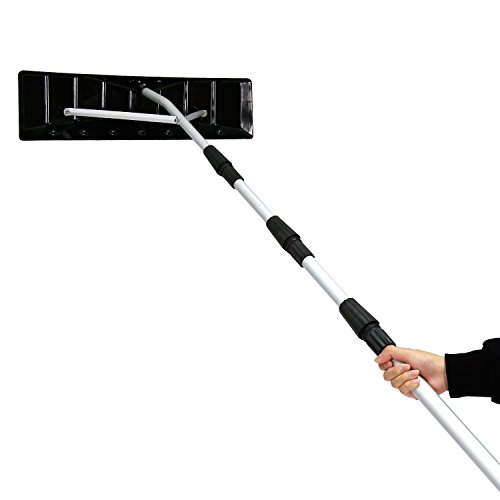 Kinbor 21Ft Twist Lock Telescoping Snow Shovel Roof Rake with 6