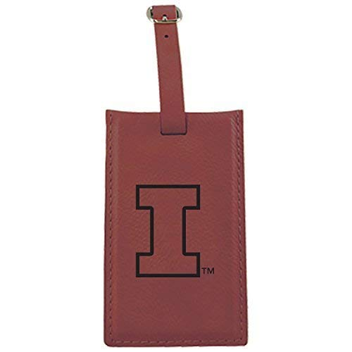 University of Illinois – Leatherette Luggage tag-burgundy B013VZQ48W