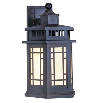Livex Lighting 2392-07 Outdoor Wall Lantern with Tiffany Art Glass Shades, Bronze