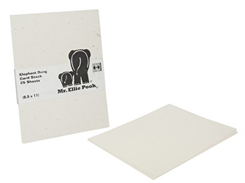 Mr. Ellie Pooh Elephant Dung Paper Card Stock, Natural White (CS-Natural White)