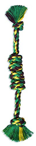 (Flossy Chews Assorted Color Monkey Fist Bar, Large, 18-Inch)