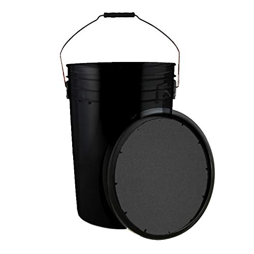 Champion Sports Baseball Bucket with Soft Seat Lid, Black