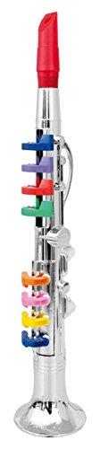 PowerTRC Clarinet with 8 Colored Keys, Metallic Silver