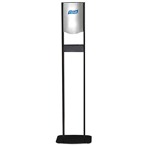 PURELL 2456-DS Elite LTX Floor Stand Dispenser Station for 1200 mL Refills, Chrome/Black