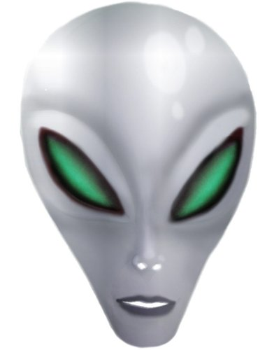 Silver Alien Costumes (Adult Blue Area 51 Science Fiction Alien Costume Latex Mask Large Eyes)