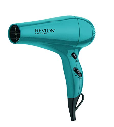 Revlon 1875W Volume Styler Ionic Lightweight Locking Cold Shot 3 Speeds Brilliance Turquoise