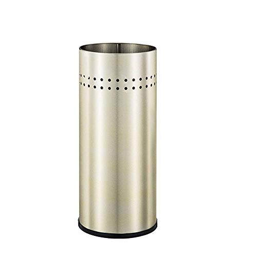(YSJJH Umbrella Bucket/Umbrella Stand Floor Stainless Steel Umbrella Stand Family Entrance Storage Umbrella Stand Multicolor Metal Cane Umbrella Stand 22   50 cm (Color : Silver))