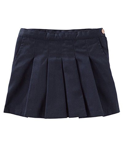Osh Kosh Girls' Kids Pleated Uniform Skirt, Navy, 6 -