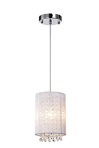 Drum Pendant Light With Crystal in Florida - 2