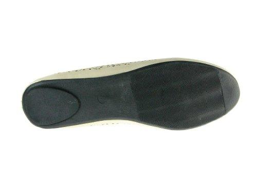 Kelly-18 Bleu De La Baie Des Femmes Coupe Fumer Slip Sur Les Chaussures Plates Beige